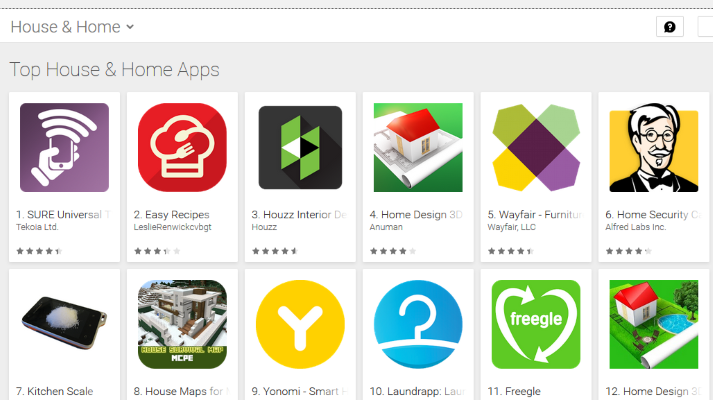 Top 10 Android apps for your smart home