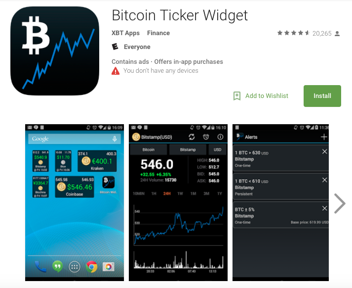 Bitcoin Ticker Widget App Review - Appstoryorg