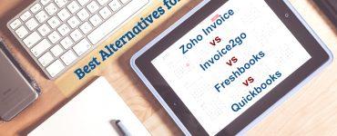 Alternatives Zoho Invoice, Invoice2go, freshbooks, quickbooks