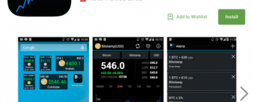 Bitcoin Ticker Widget App Review
