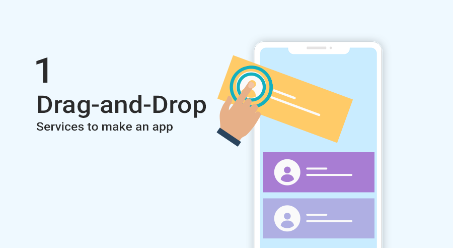 drag and drop services to make app